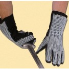 Chainmail gloves, natural finish