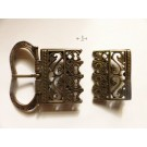 Medieval beltbuckle and -end