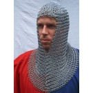 Chainmail coif, galvanised